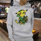 Cute Cartoon Pokemon Pikachu Zelda Womens Gray Hoodie