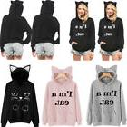 Hot Women Long Sleeve Hoodie Sweatshirt Sweater Hooded Jumpe