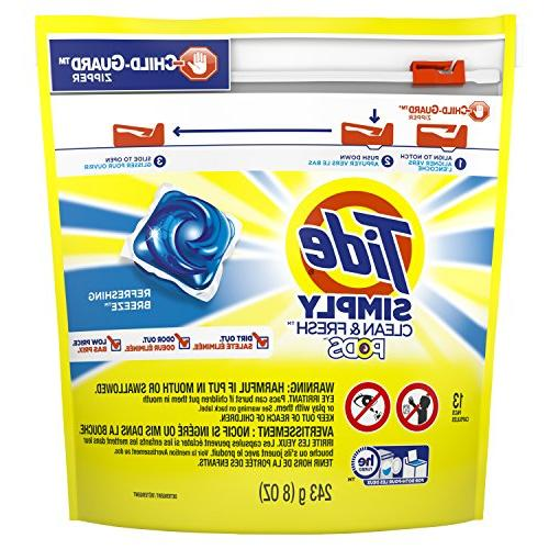 Tide Simply clean & Fresh Pods - Refreshing Breeze 13 ct