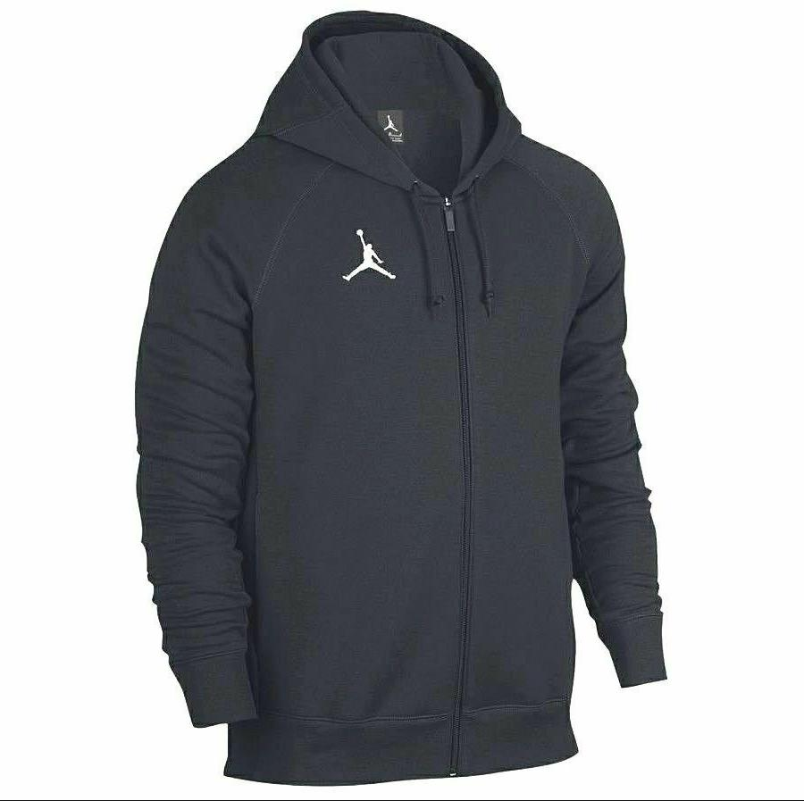 air jordan fleece basketball full zip hoodie