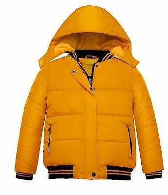 boy s quilted winter coat zipped windproof