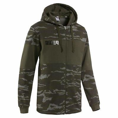 camo full zip hoodie men sweat basics