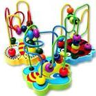 Kids Baby Colorful Wooden Mini Around Beads Educational Game
