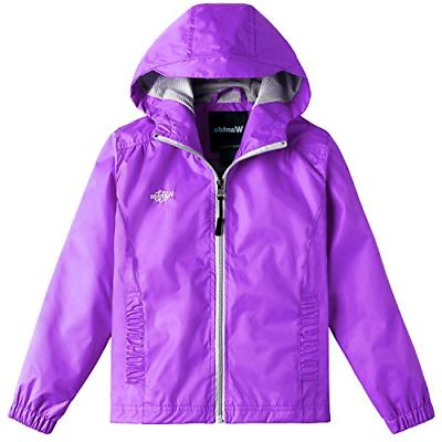 girl s ultra light packable rain jacket