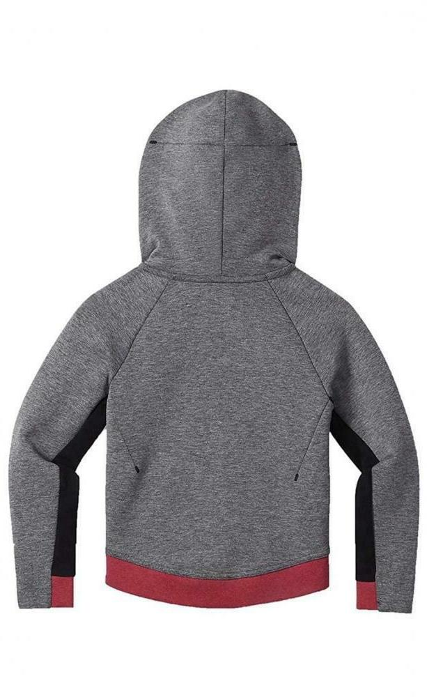 Nike Girls' Kids Tech Fleece Full Hoodie 36C362-A5L Rush Pink