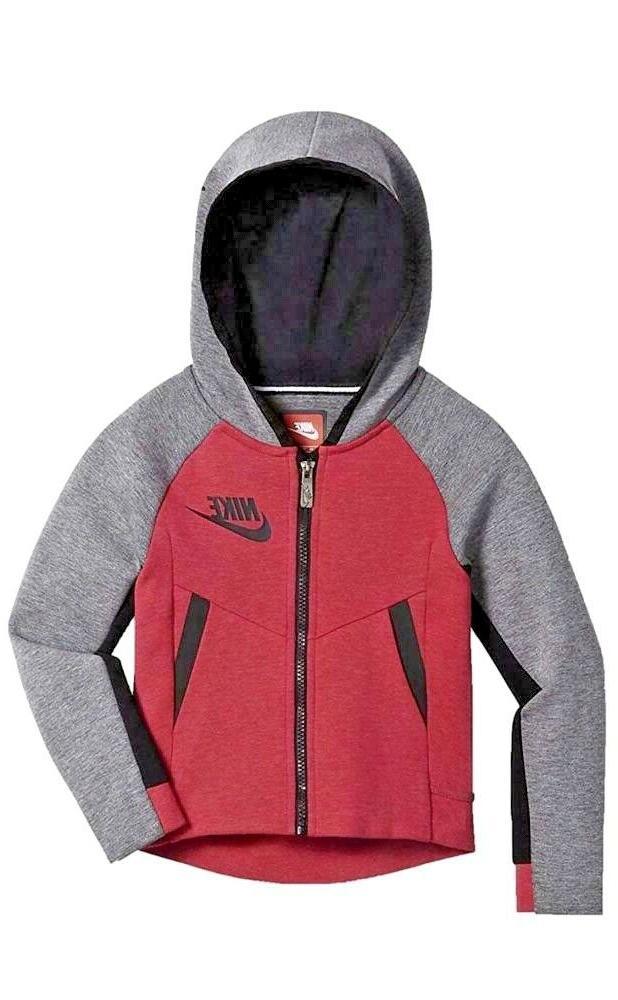 girls kids sportswear tech fleece full zip