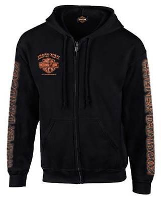 Harley-Davidson Men's Eagle Piston Long Sleeve Full-Zip Hood
