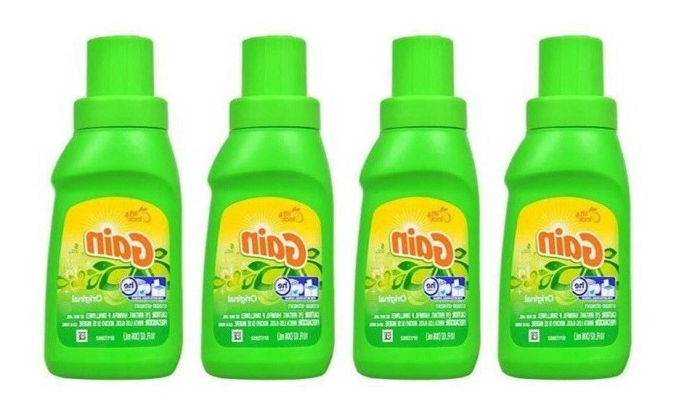 4x  Gain HE High Efficiency Original Liquid Laundry Detergen