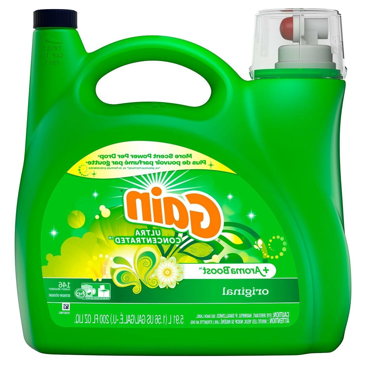 Gain HE Original Liquid Laundry Detergent 225 fl.oz.,146 loa