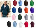 heavy blend full zip hooded sweatshirt size