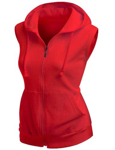 hooded cotton vest