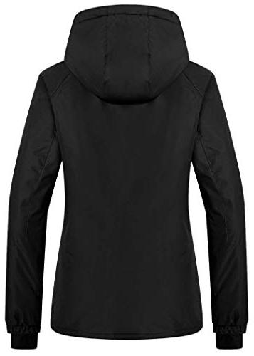 Wantdo Women's Hooded Jacket Outdoor Snow for Hiking