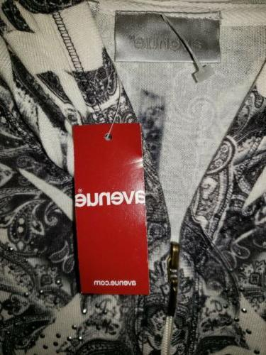 Avenue Hoodie/Jacket 14/16-Tiny Silver Front-NEW Tags