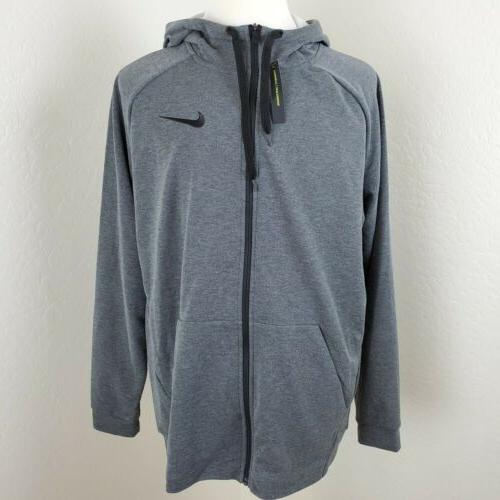 Nike Lightweight Full-Zip Fleece Hoodie Men's XL NWT Charcoa