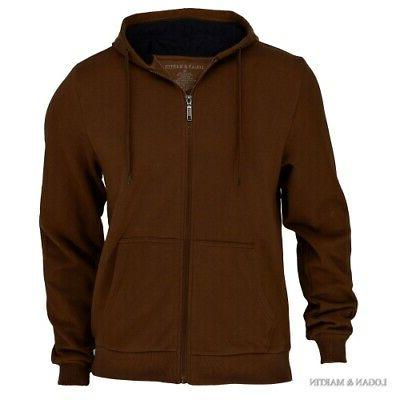 Logan & Martin Fleece-Lined Zip-Up Hoodies 8 Colors and Sizes Med-XXL