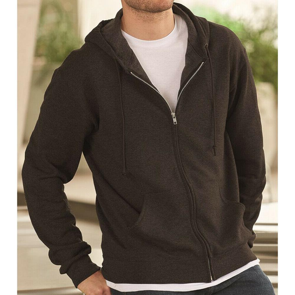 men s classic full zip up hoodie