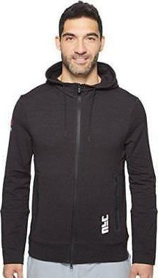 Men's Combat Reebok UFC Training Full Zip Hoodie Black AH789