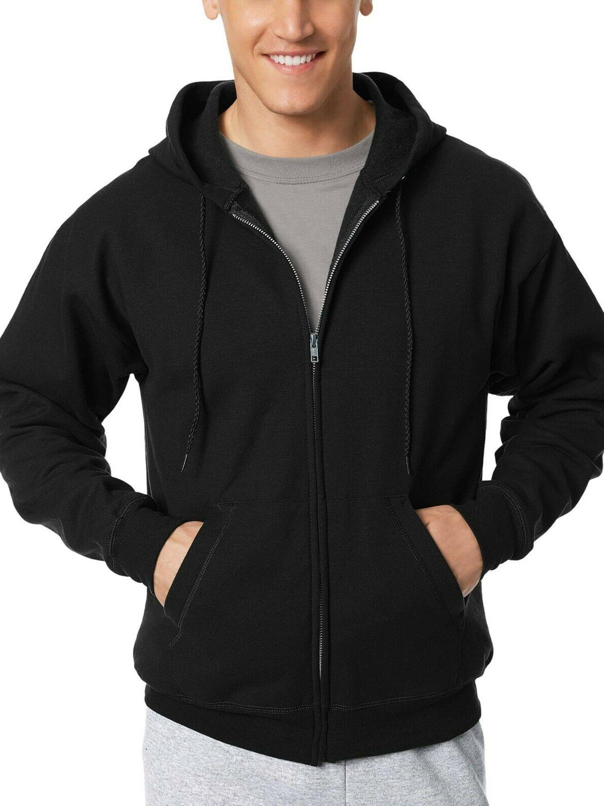 men s ecosmart fleece zip up hoodie