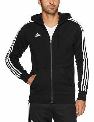 men s essentials 3 stripe full zip