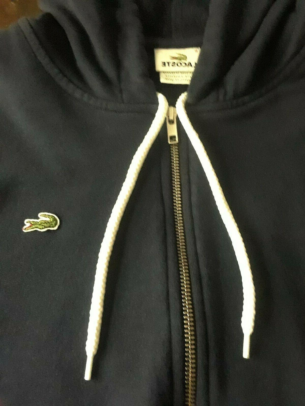 Lacoste Navy Blue Hooded XL