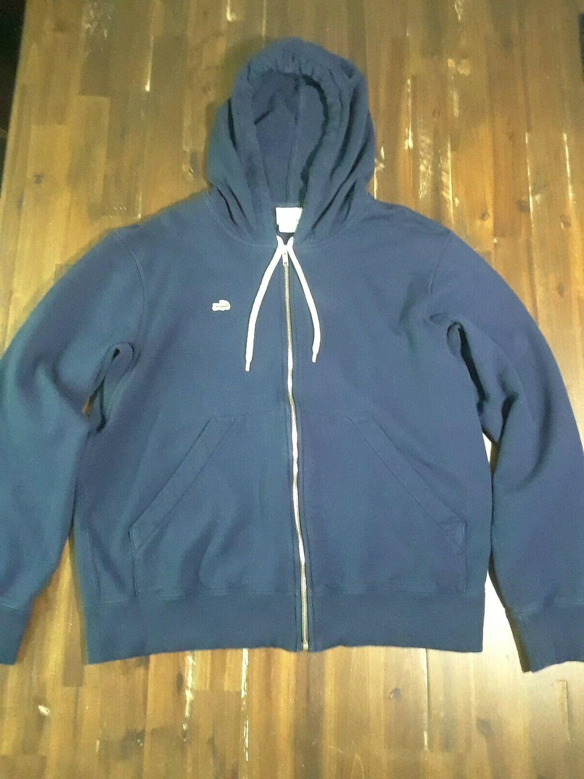 Lacoste Navy Blue Cotton Hooded Hoodie New XL 6