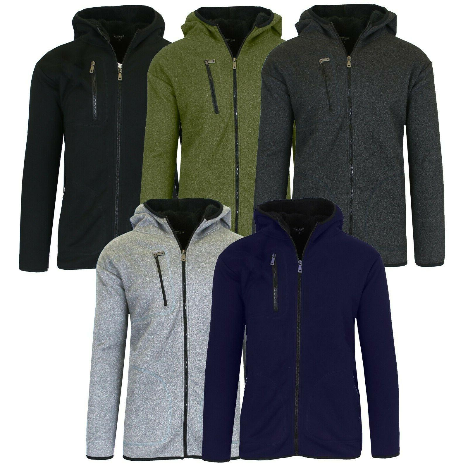 men s heavy weight sherpa lined hoodie
