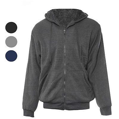 men s hoodie zip up jacket sherpa