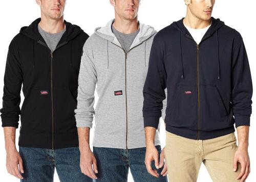 Dickies Men's Lightweight Zip Up Fleece Hoodie, Color Option