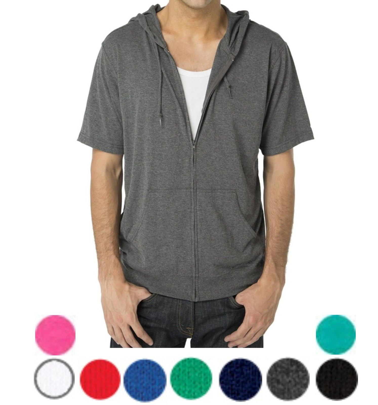 MEN'S LIGHTWEIGHT, ZIP UP, SHORT SLEEVE, JERSEY, BEACH / T-S