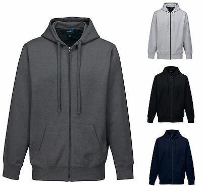 MEN'S MID-WEIGHT, ZIP UP HOODIE, POCKETS, COTTON BLEND, DRAW
