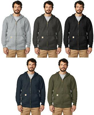 men s midweight hooded sweatshirt zip front