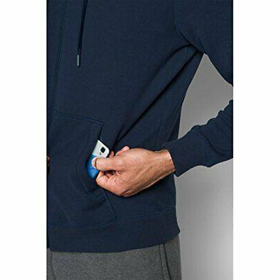 Men's Navy Blue Armour ColdGear Fitted Full Zip NWT