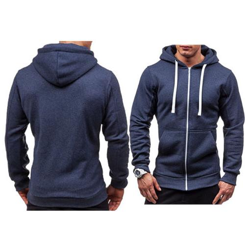 Men's Up Hoodie Hooded Jacket Top