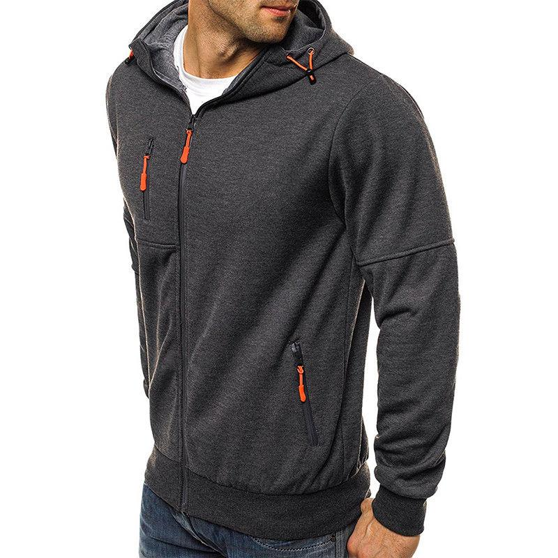 Men's Up Hoodie Classic Zipper Tops
