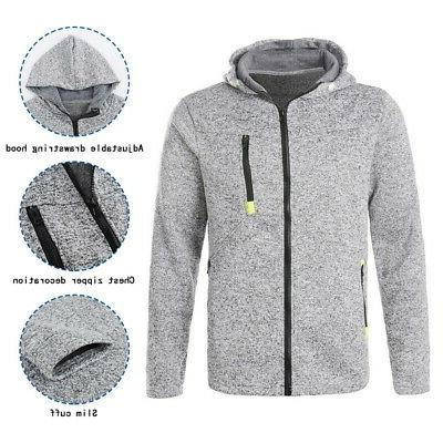 Mens Classic Winter Hooded Jacket Tops Pocket