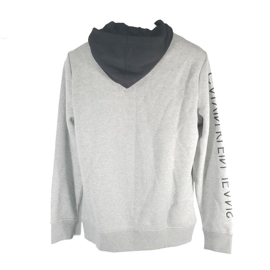 Calvin Klein Men's Sweater Small Zip Gray Spell out