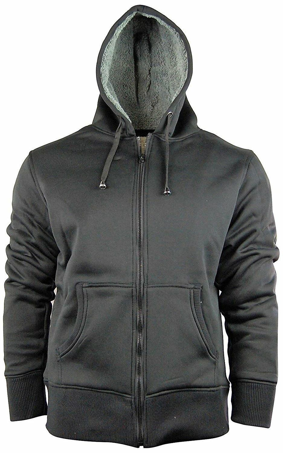 Men's Lined Hoodie/Hooded With Fleece Lining | & Warm