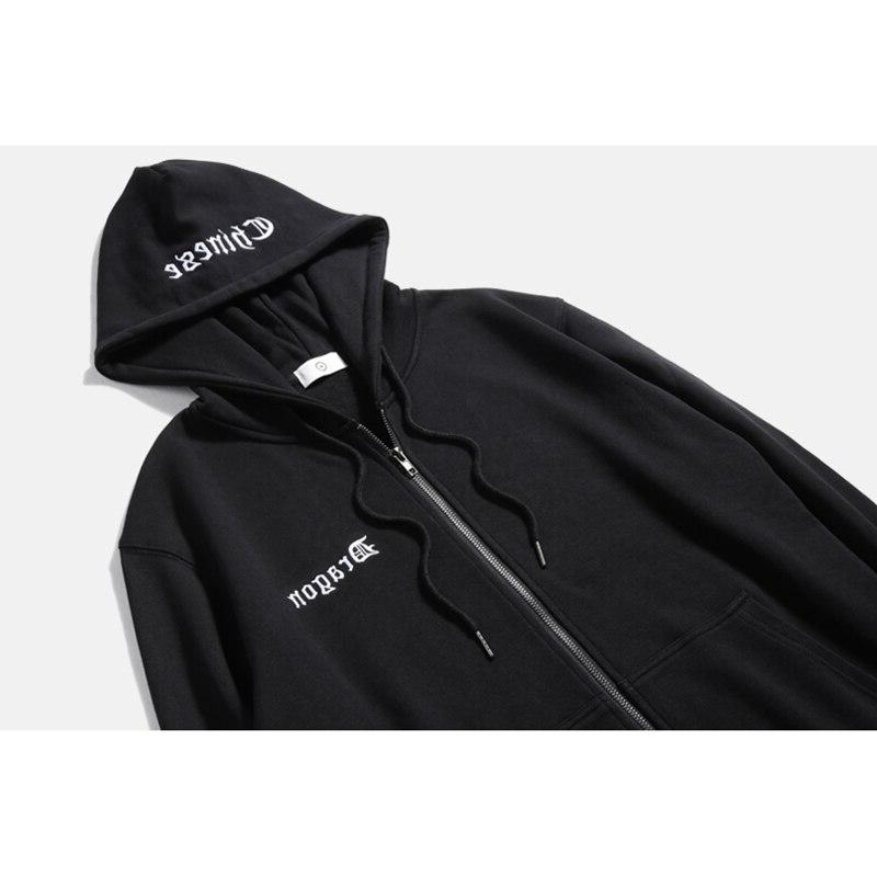 Mens Pullover Black Gothic <font><b>Zip</b></font> Craft Hooded <font><b>Hoodie</b></font> Tie