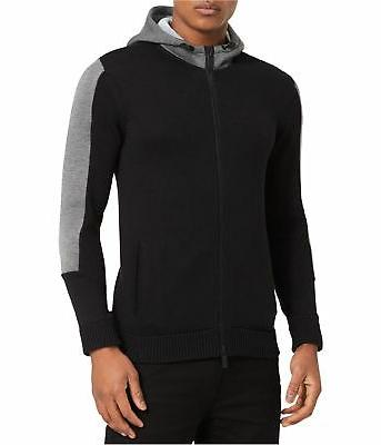 mens colorblocked full zip hoodie sweatshirt