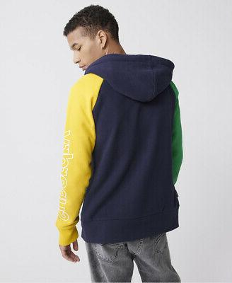 Superdry Mens Crafted Colour Block Zip Hoodie