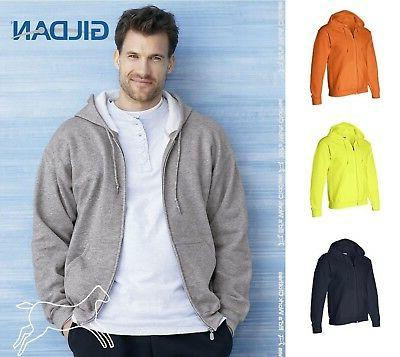 mens dry blend full zip hooded hoodie