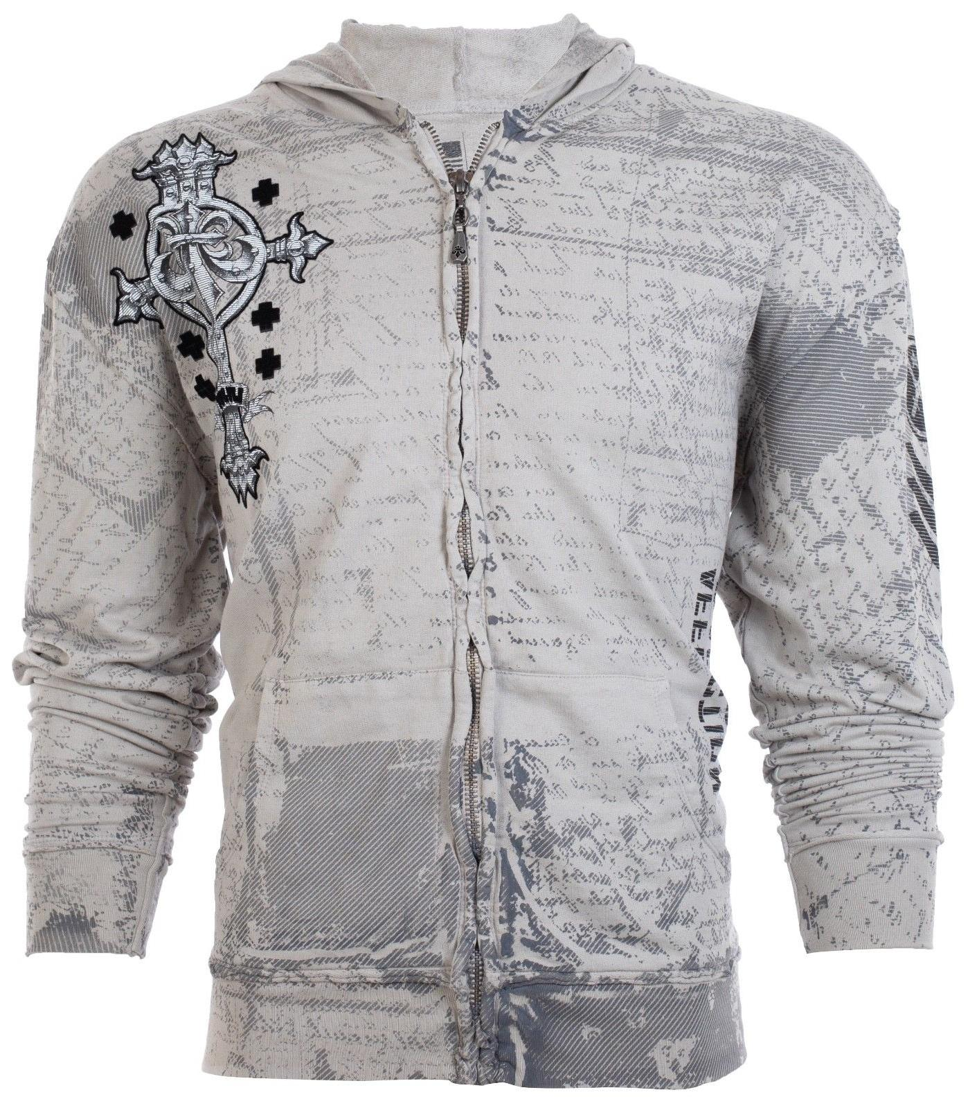 AFFLICTION HOODIE Sweat Shirt ZIP UP Jacket UFC