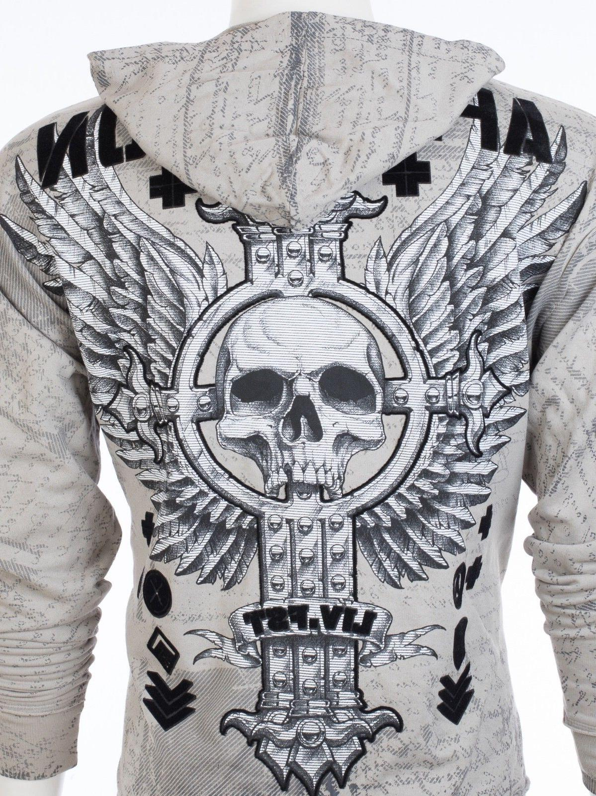 AFFLICTION Shirt Jacket VIVE RAPIDO Skull UFC