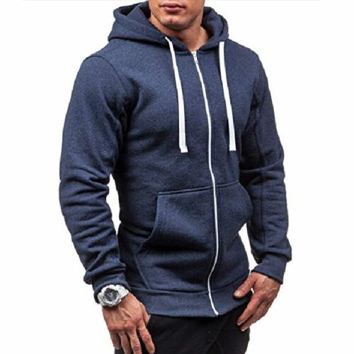 Mens Thick Zip-Up Sherpa Unisex Hooded Jacket STOCK