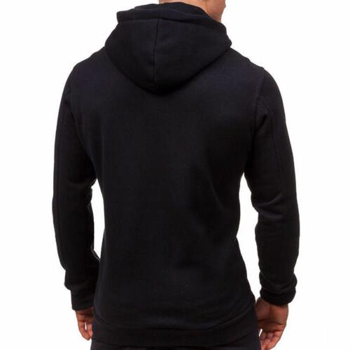 Mens Thick Sherpa Fur Winter Hooded Jumper STOCK