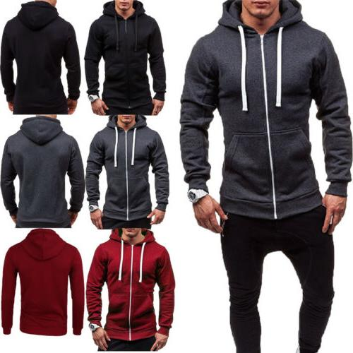 Mens Thick Zip-Up Sherpa Winter Unisex Hooded STOCK