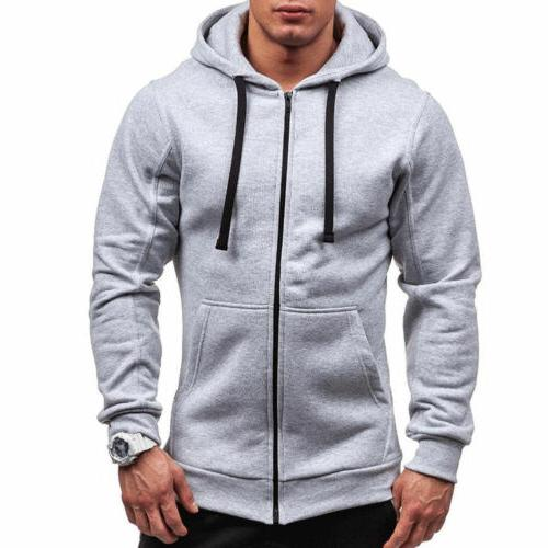 Mens Zip-Up Sherpa Unisex Hooded Jacket STOCK