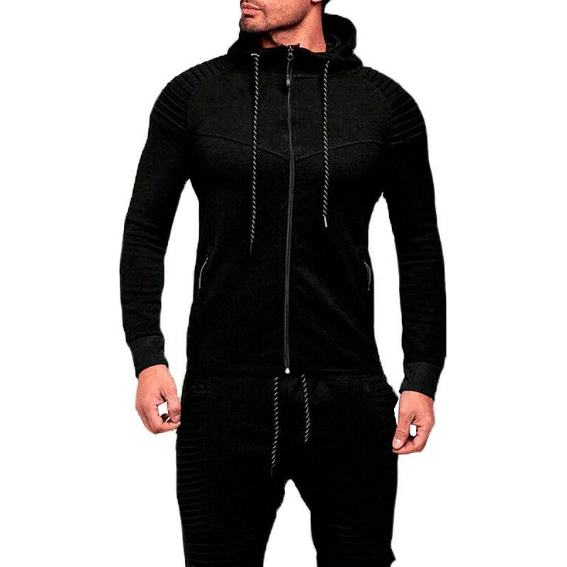 Men's Full Up Hoodie Long Sleeve Tops