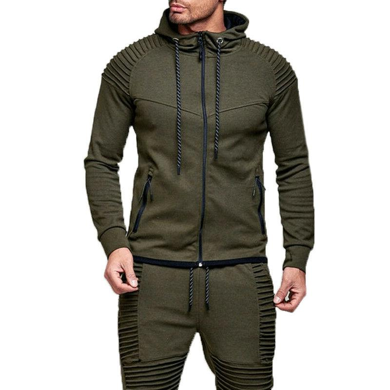 Men's Full Hoodie Long Tops