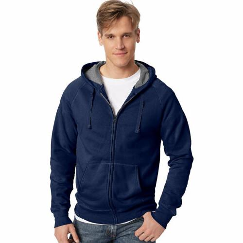 Hanes N280 Men's Nano Premium Lightweight Full Zip Hoodie,